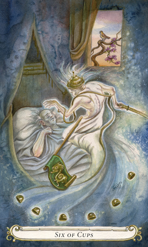 Six of Cups - The Fairy Tale Tarot by Lisa Hunt