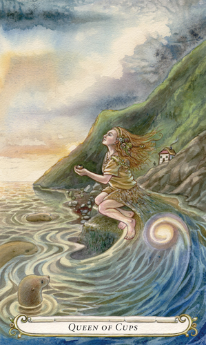 Queen of Cups - The Fairy Tale Tarot by Lisa Hunt