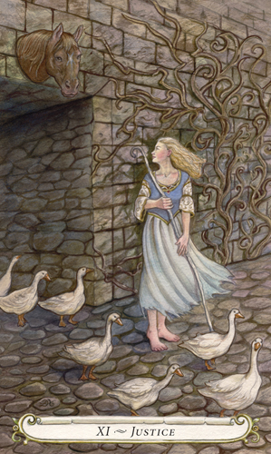 Justice - The Fairy Tale Tarot by Lisa Hunt
