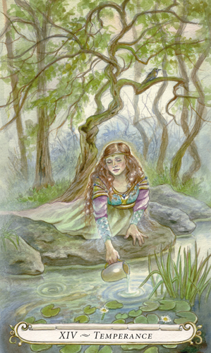 Temperance - The Fairy Tale Tarot by Lisa Hunt