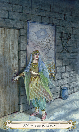 Tempatation - The Fairy Tale Tarot by Lisa Hunt