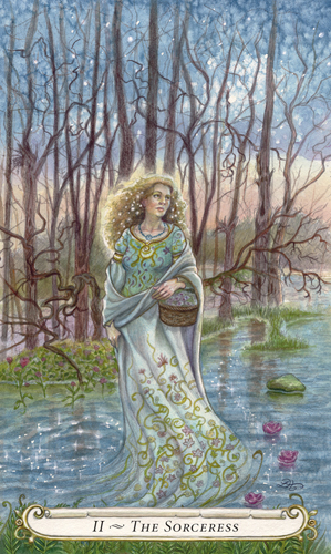 The Sorceress - The Fairy Tale Tarot by Lisa Hunt