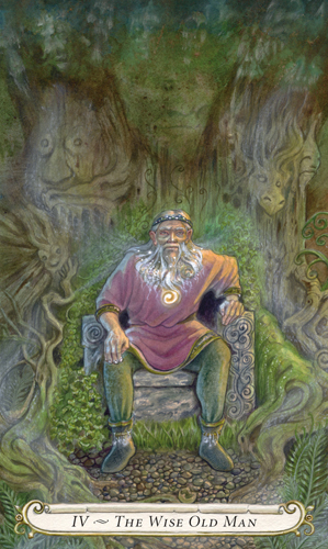 The Wise Old Man - The Fairy Tale Tarot by Lisa Hunt