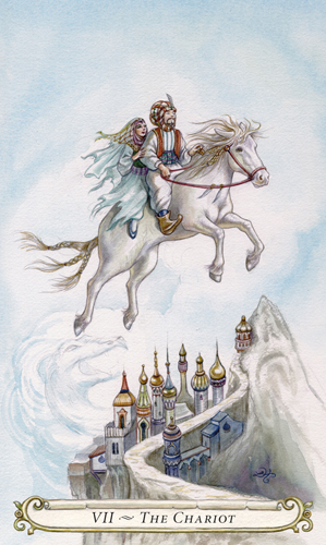 The Chariot - The Fairy Tale Tarot by Lisa Hunt