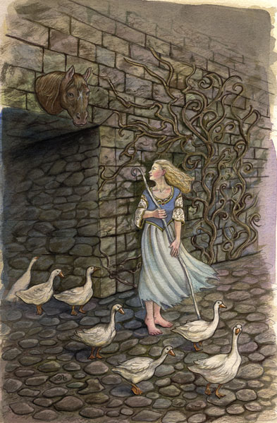 Goosegirl painting by Lisa Hunt