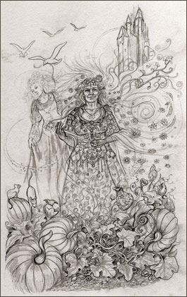 Fairy Godmother, Fairy Tale Tarot by Lisa Hunt