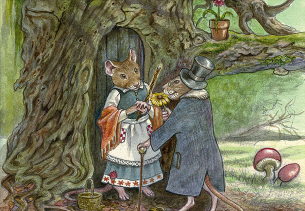City Mouse, Country Mouse (Two of Wands) - by Lisa Hunt