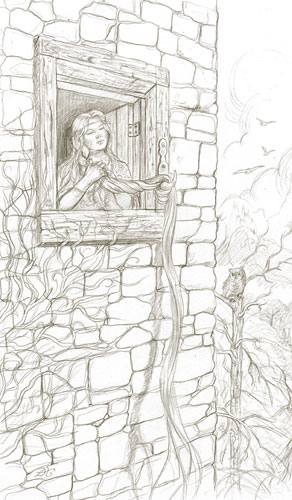 Rapunzel - the final drawing