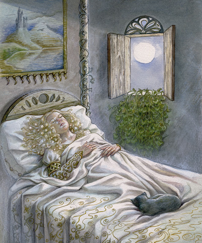 sleeping beauty - the moon card by Lisa Hunt