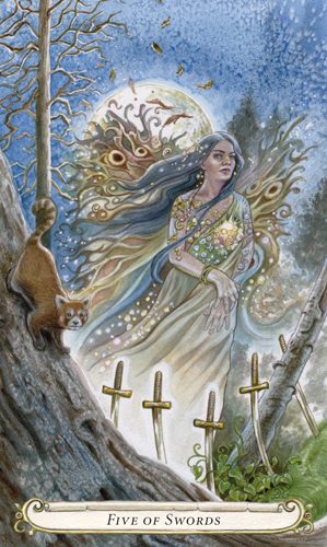 Five of Swords - The Fairy Tale Tarot by Lisa Hunt