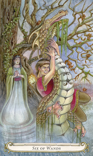 Six of Wands - The Fairy Tale Tarot by Lisa Hunt