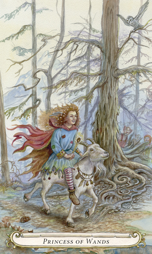 Princess of Wands - The Fairy Tale Tarot by Lisa Hunt